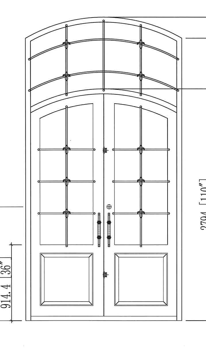 CAD Drawing of Door