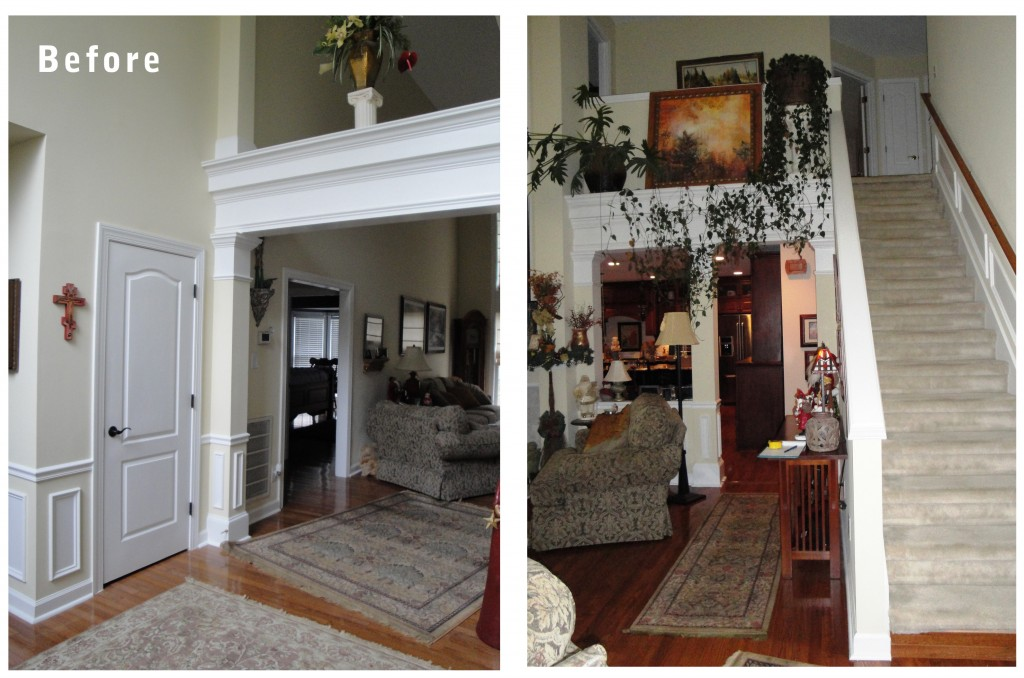 Current project a before after of a living room Before and after interior design projects