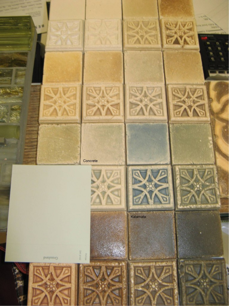 Arts and crafts tiles - Tile Selection