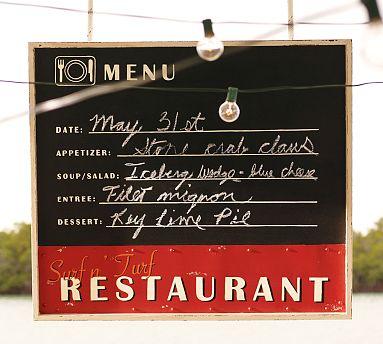 Potterybarn Chalkboard