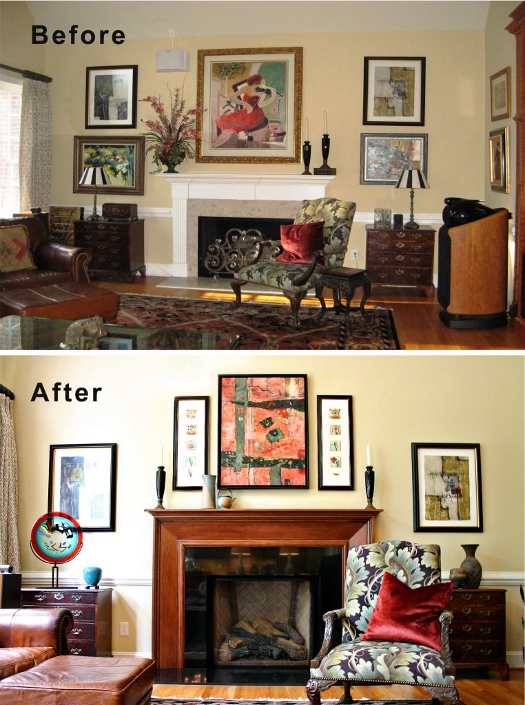 before after interior design