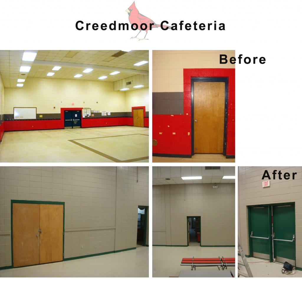 Design Lines & Creedmoor Elementary School Makeover 2010