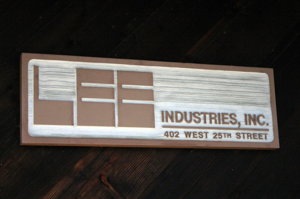 E Lee Industries sign Conover NC Design Lines Ltd