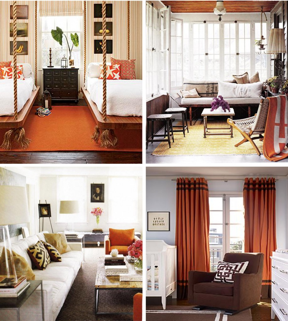 Interior Rooms with Halloween Colors