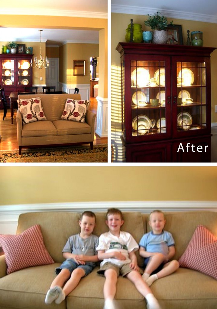 Raleigh, NC Interior Design Family Room with Kids Design Lines (3)