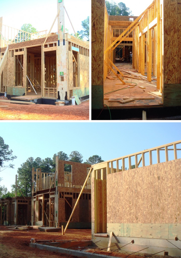 NCSU Chancellor's House Construction Pictures Design Lines