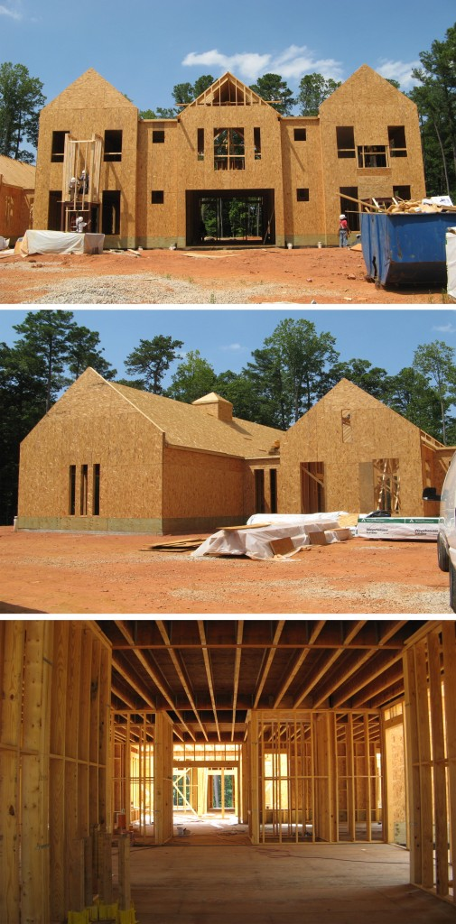 NCSU Chancellor's House Construction Pictures Design Lines3