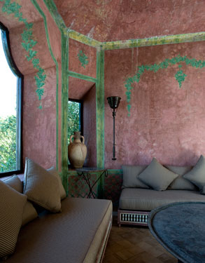 Design Lines Blog Yves Saint Laurent Moroccan Villa Mabrouka interior view 2