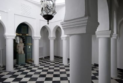 Design Lines Blog Yves Saint Laurent Moroccan Villa Mabrouka interior view court