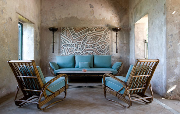 Design Lines Blog Yves Saint Laurent Moroccan Villa Mabrouka interior view sitting