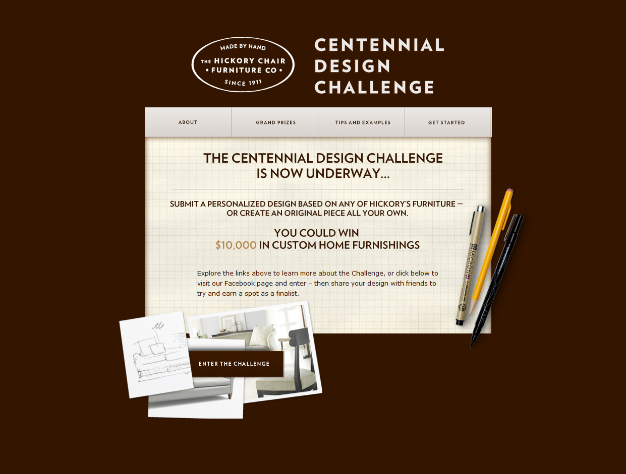 Hickory Chair Cenntennial Design Challenge Screen Shot