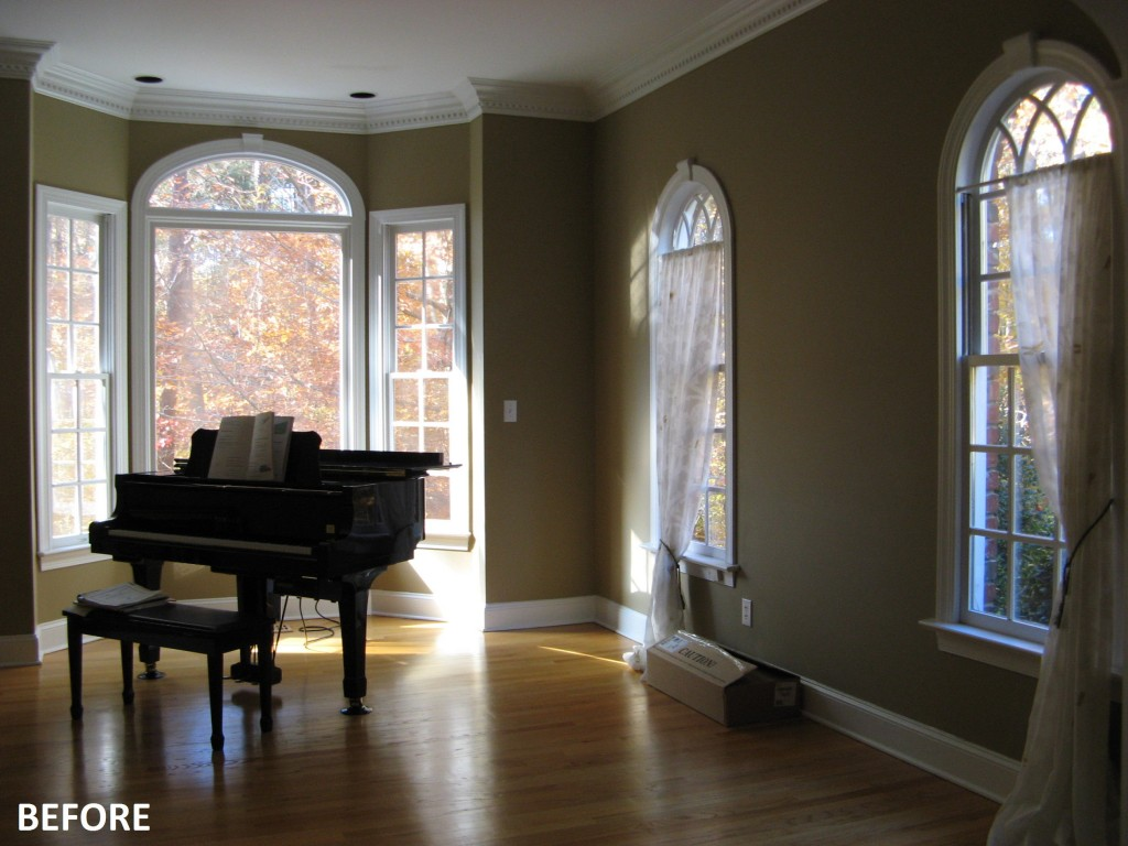 Current projects: a living room and foyer in north raleigh ...