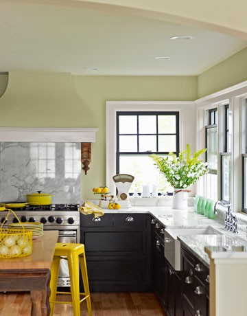 Country Living Yellow Kitchen