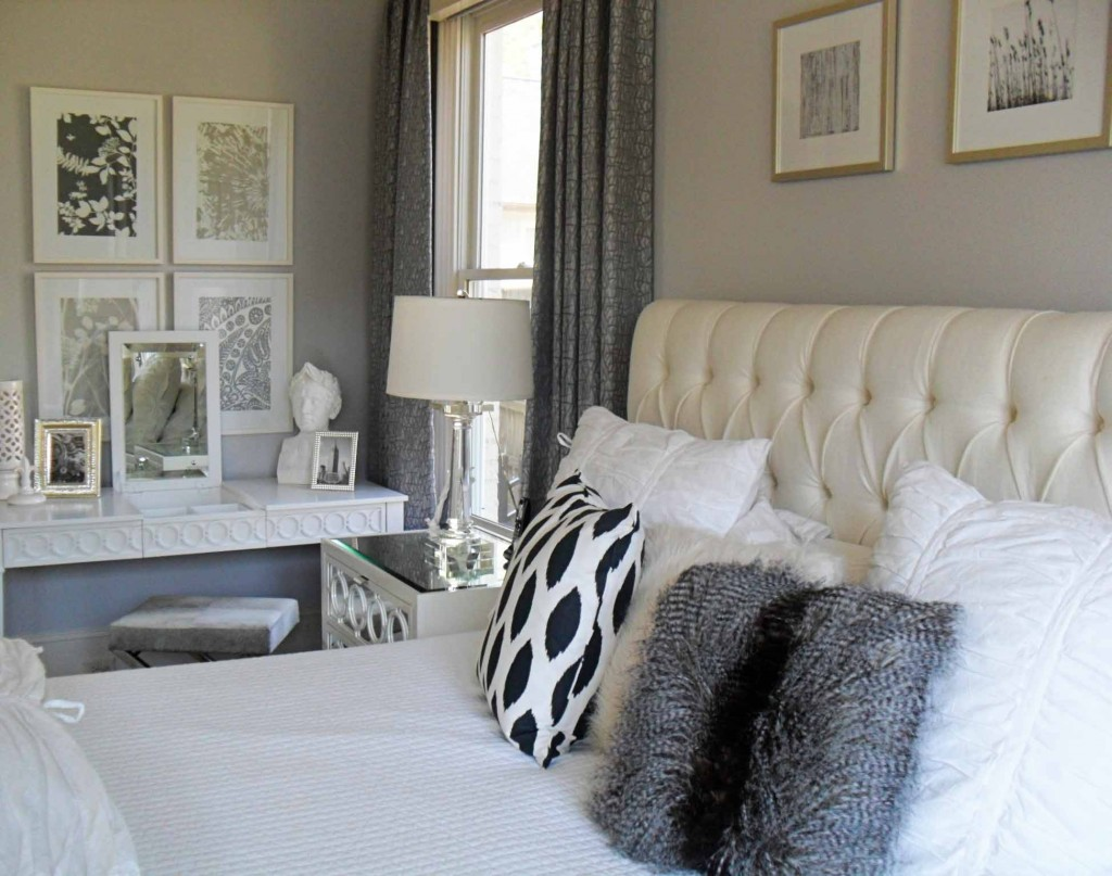 white and silver bedroom current project transforming a neutral master bedroom 17805