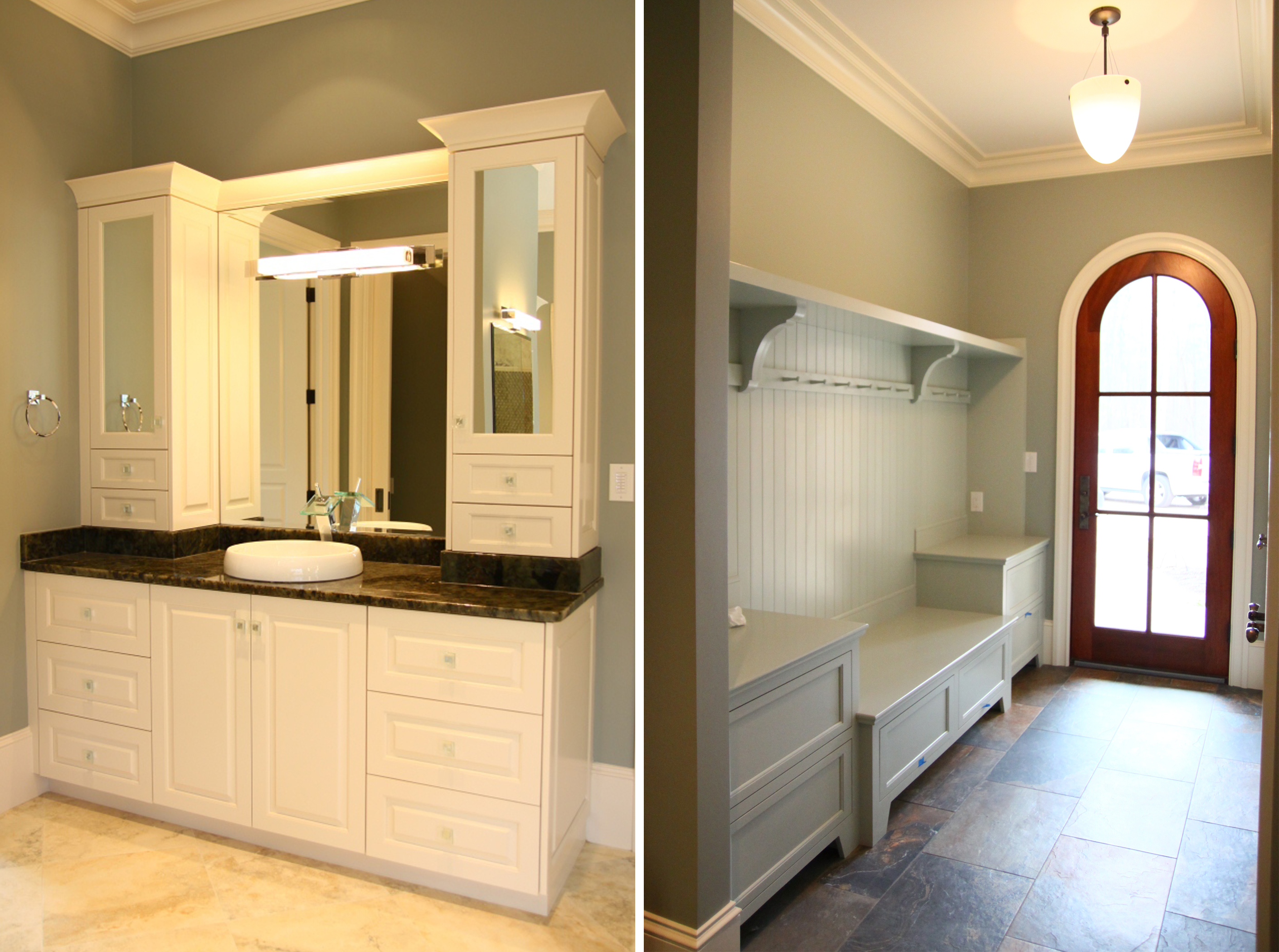 design lines blog cabinetry cary home bathroom vanity and hall mud ...