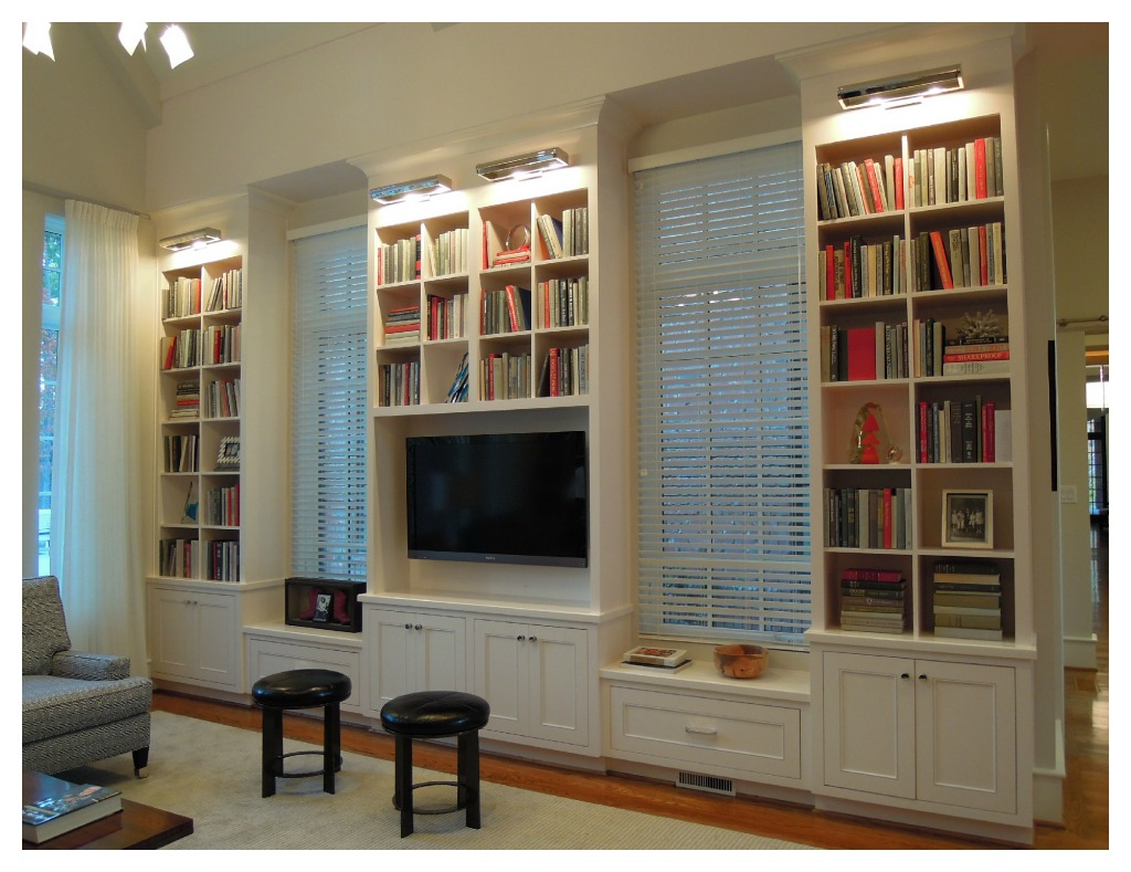 bookshelves living room | Design Lines, Ltd.