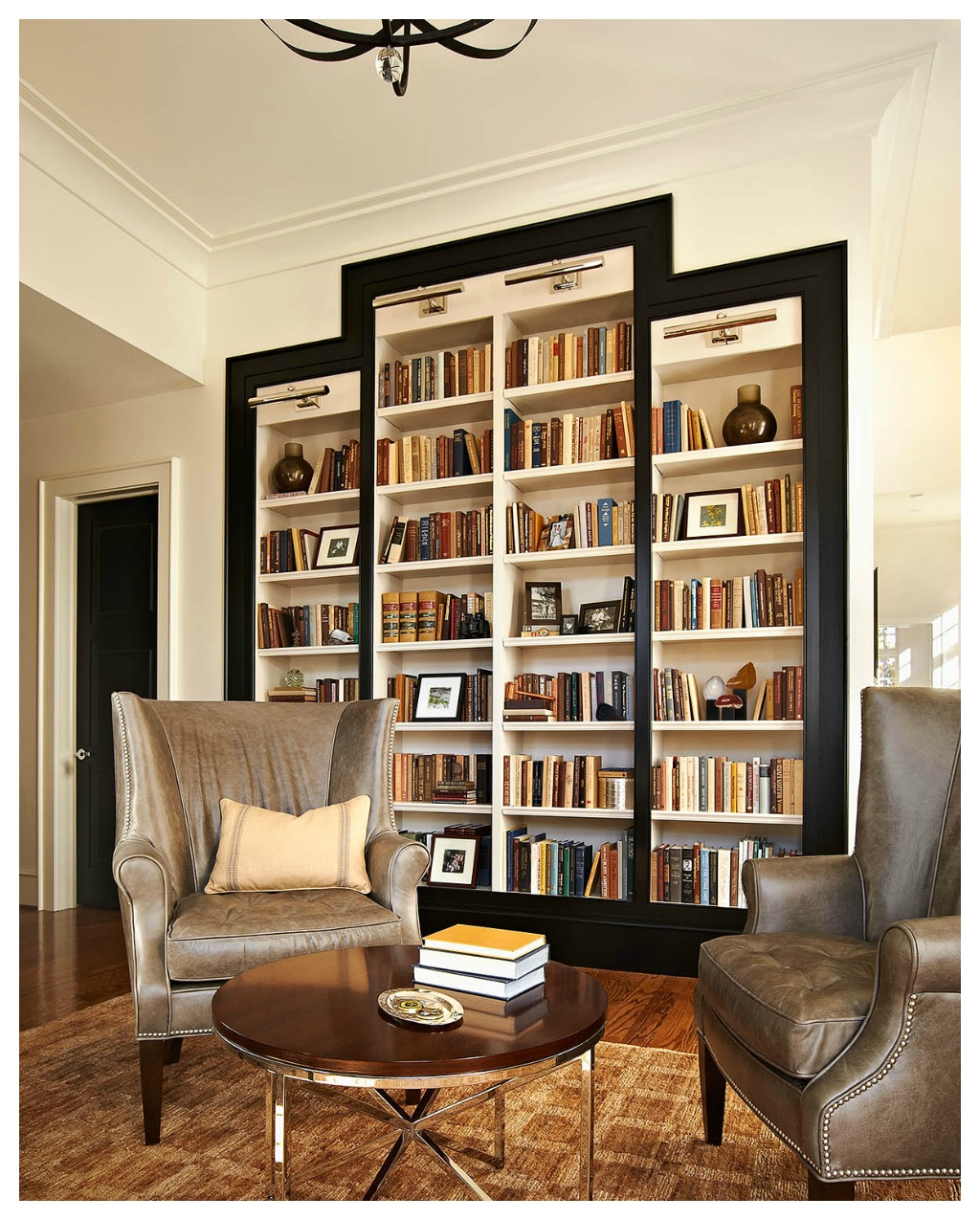 bookshelves study at ncstate chancellor s house design lines ltd
