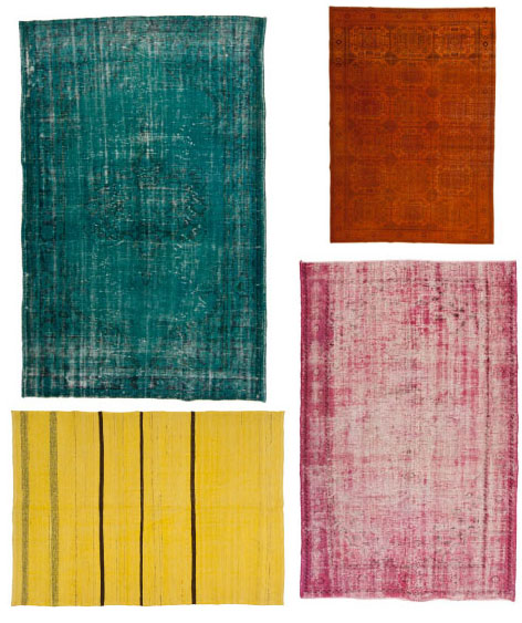Have you seen the overdyed rugs currently flooding the home decor market?  It's hard to resist the bright, saturated colors and unique character of  these ...
