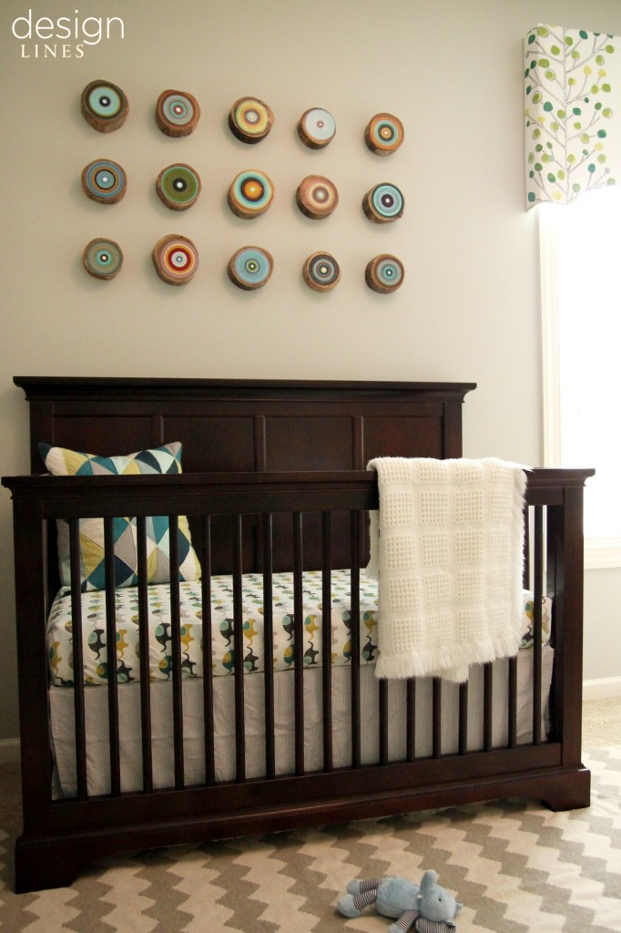 Design Lines Green and Blue Boys Modern Nursery Raleigh